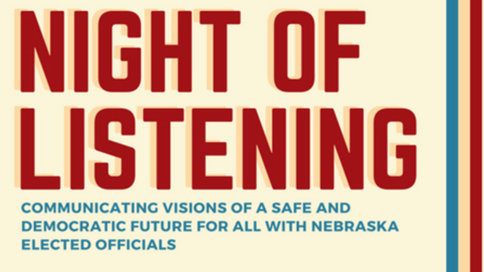 'Night of Listening' to bring students, elected officials together