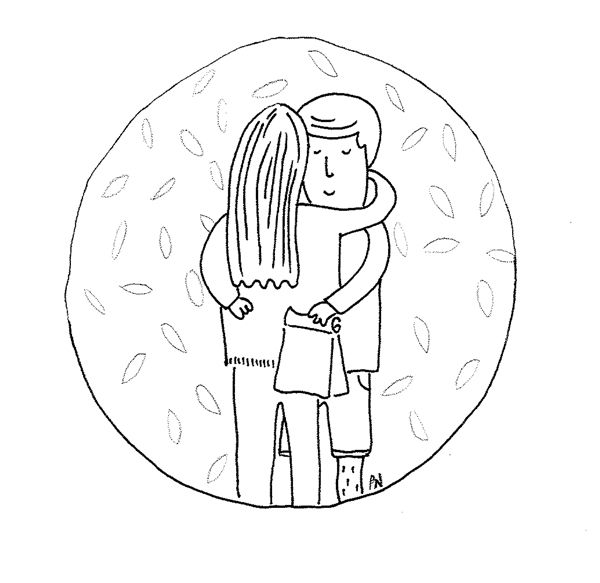 Photo Credit: Illustration of two people hugging