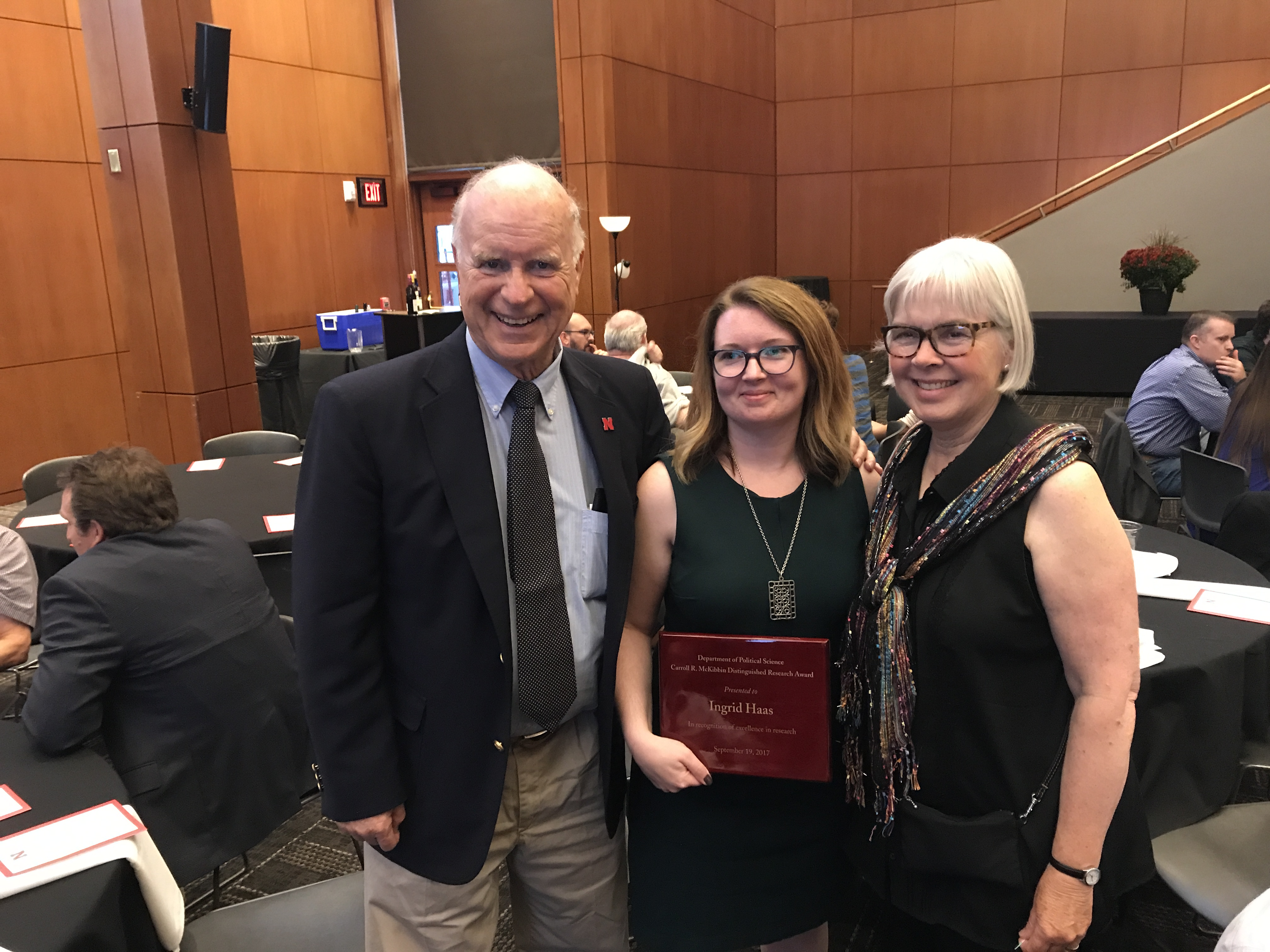 Ingrid Haas earns Distinguished Researched Award