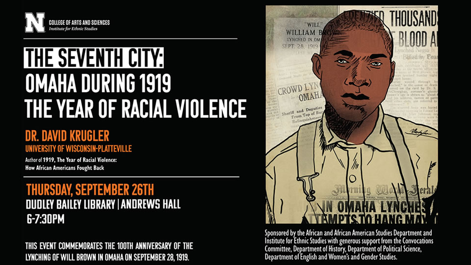 Livestream Krugler's Sept. 26 talk on Omaha's racial violence in 1919